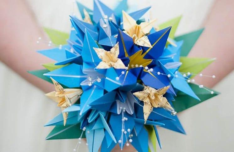 origami bruiloft