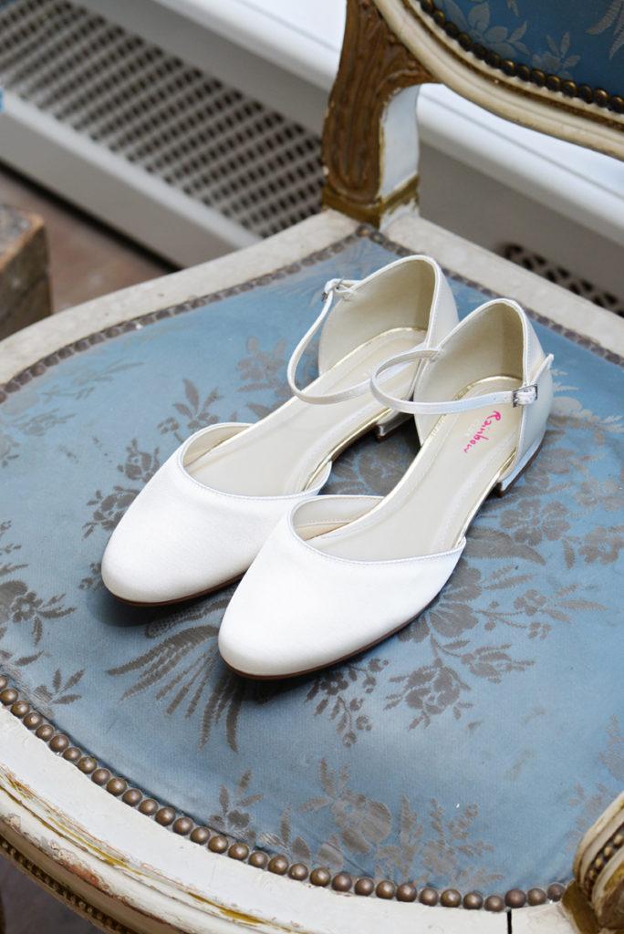 ballerina platte trouwschoen