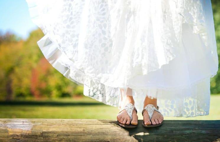 platte bruidsschoenen