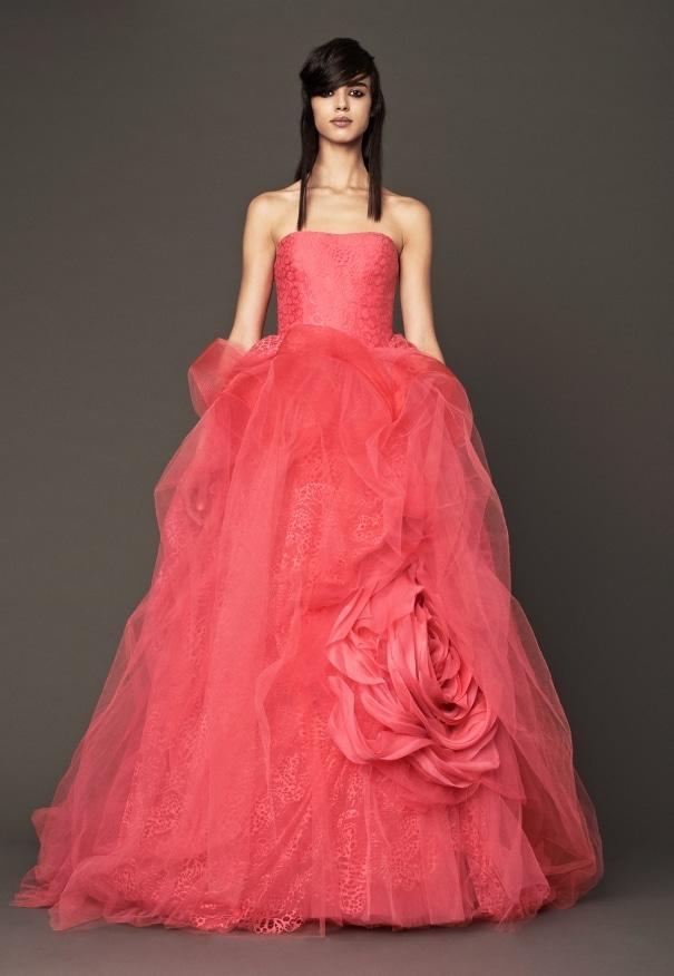 pink wedding dress