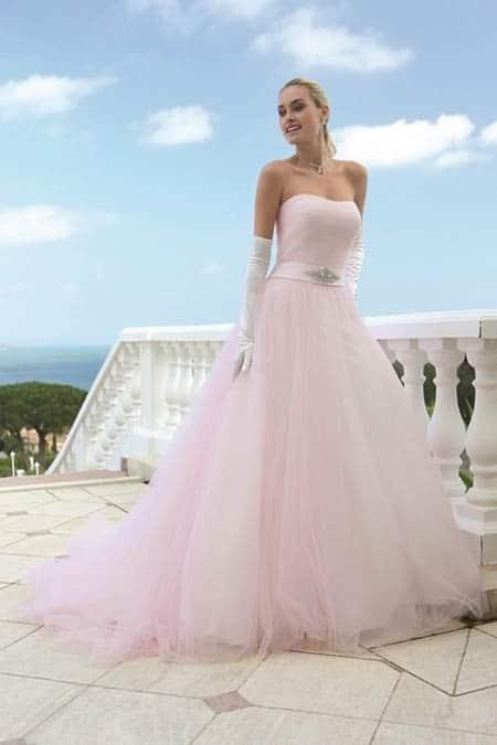 Extreem De mooiste roze trouwjurken #SN63