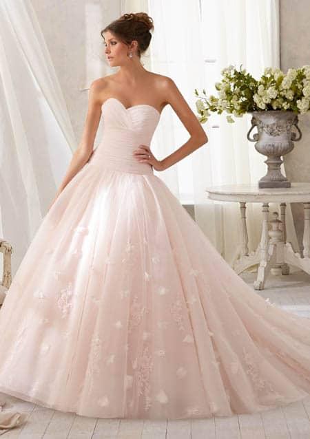 New De mooiste roze trouwjurken &XS93