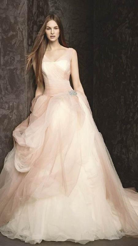 roze trouwjurk