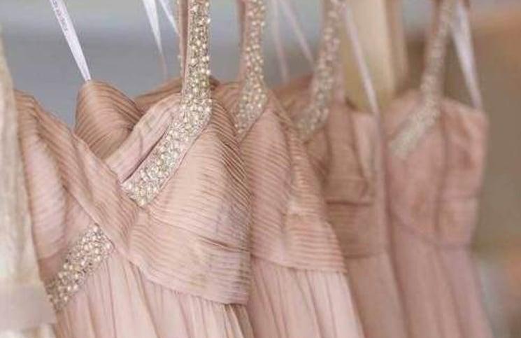 Vintage rosé trouwthema