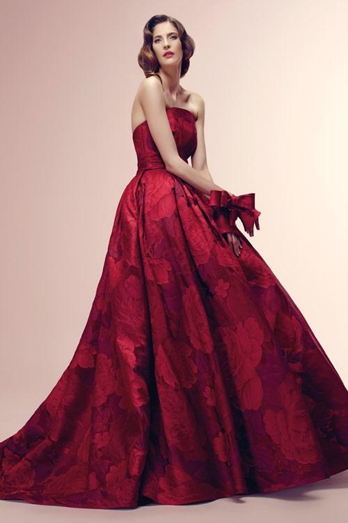 rode trouwjurk