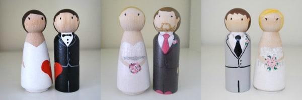 taart toppers bruiloft