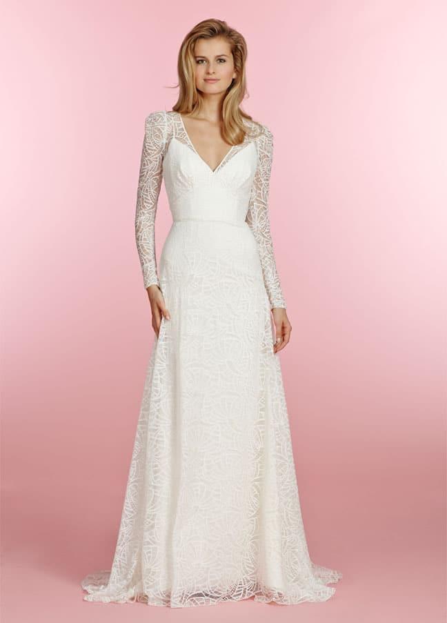 Top 20 prachtige trouwjurken met lange mouwen ZO96