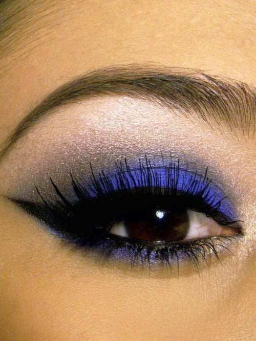 kobalt blauwe make-up