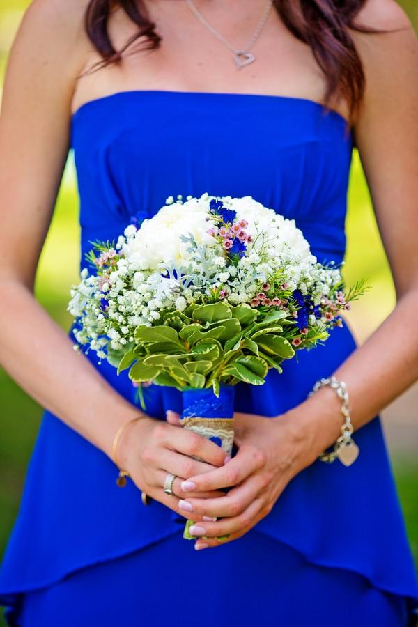 kobalt blauwe bruiloft