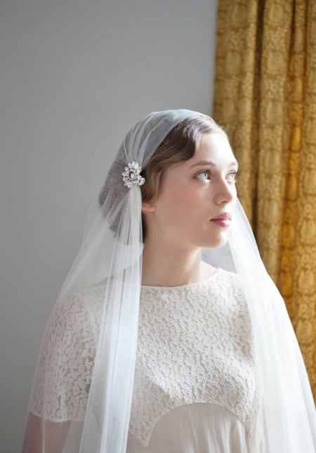 vintage bruidskapsel