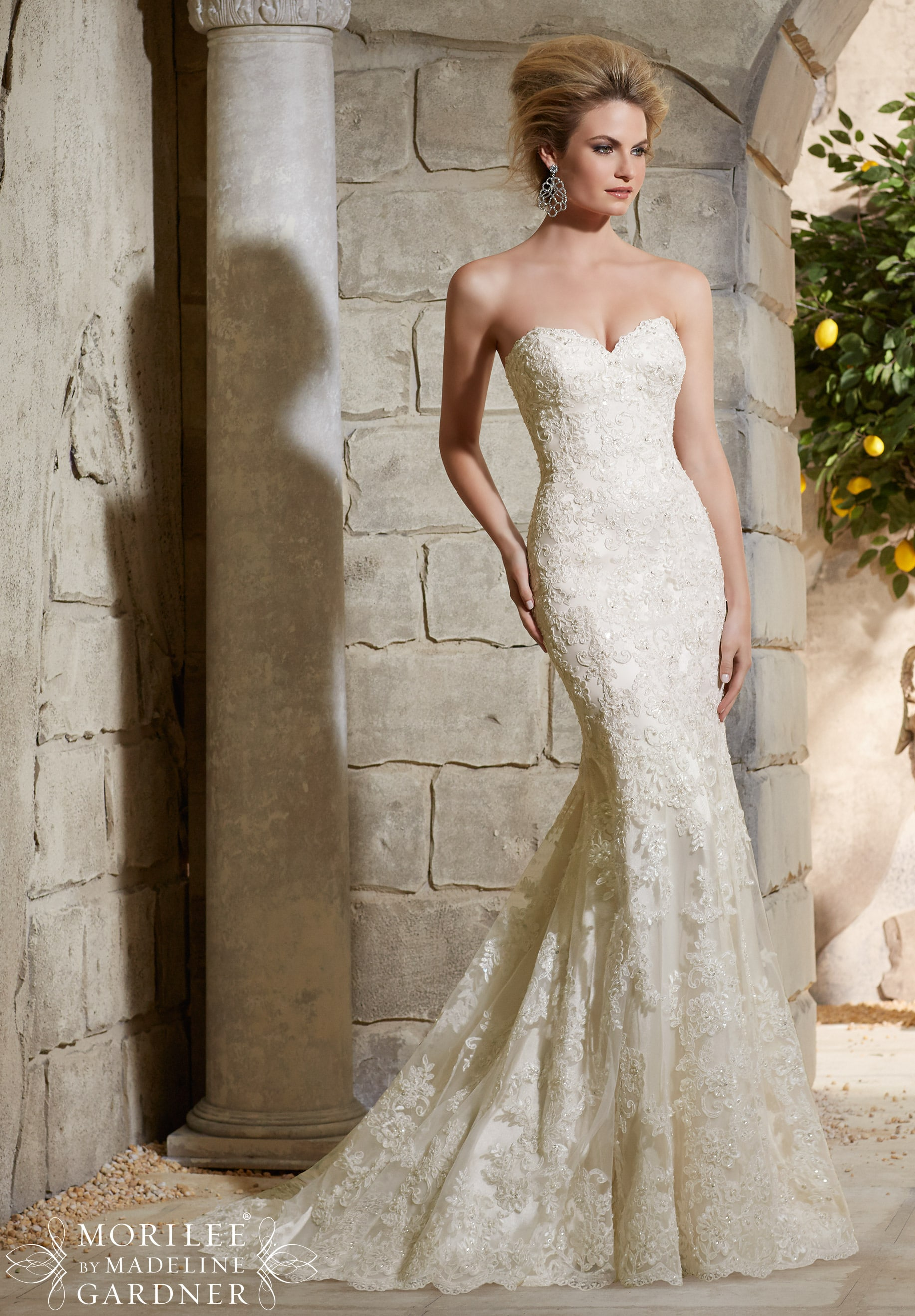 fishtail trouwjurk Mori Lee