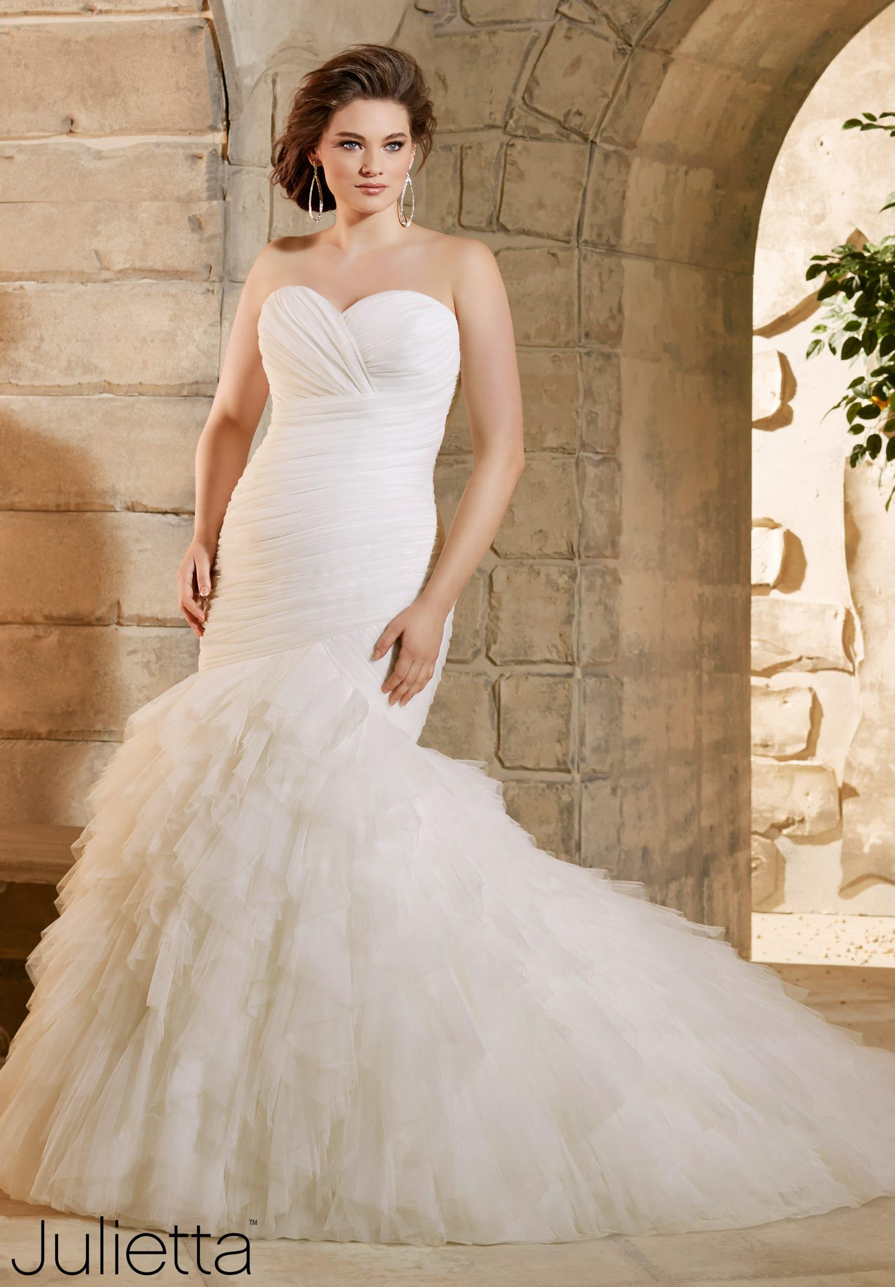 fishtail trouwjurk volslanke bruid