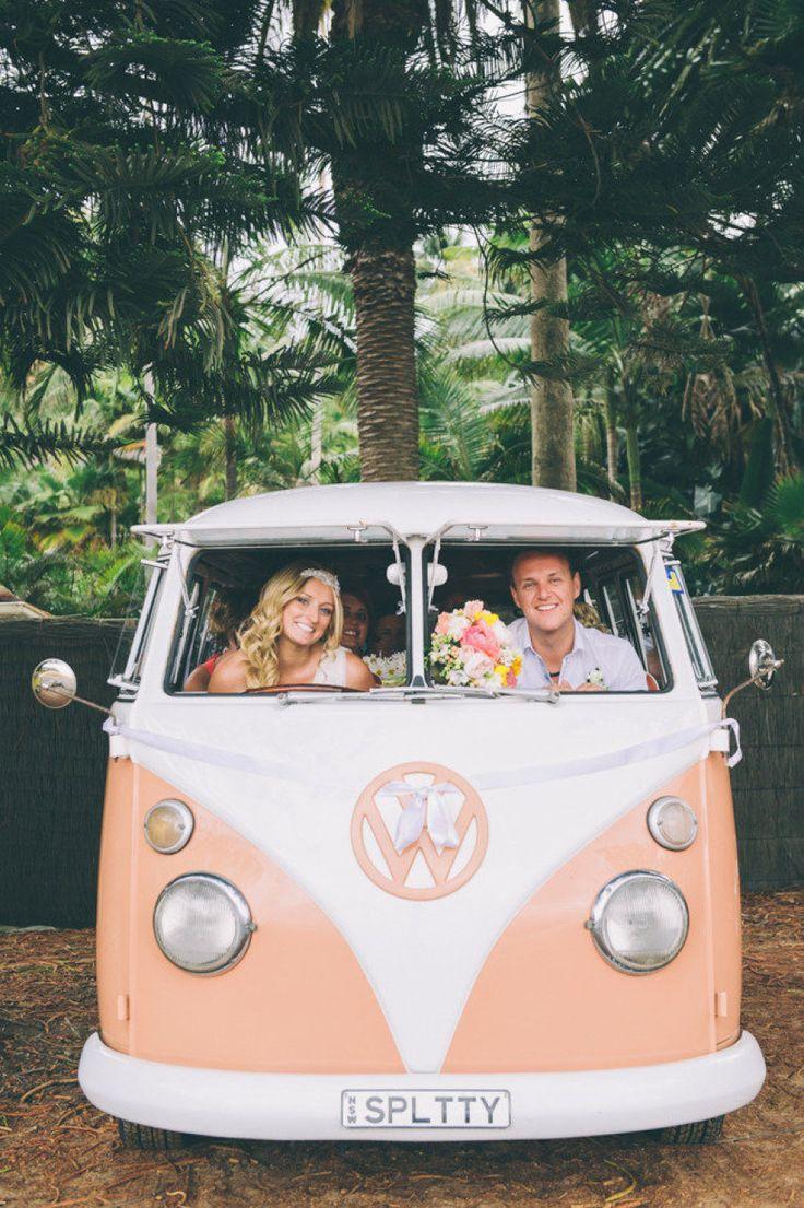 volkswagen busje op bruiloft