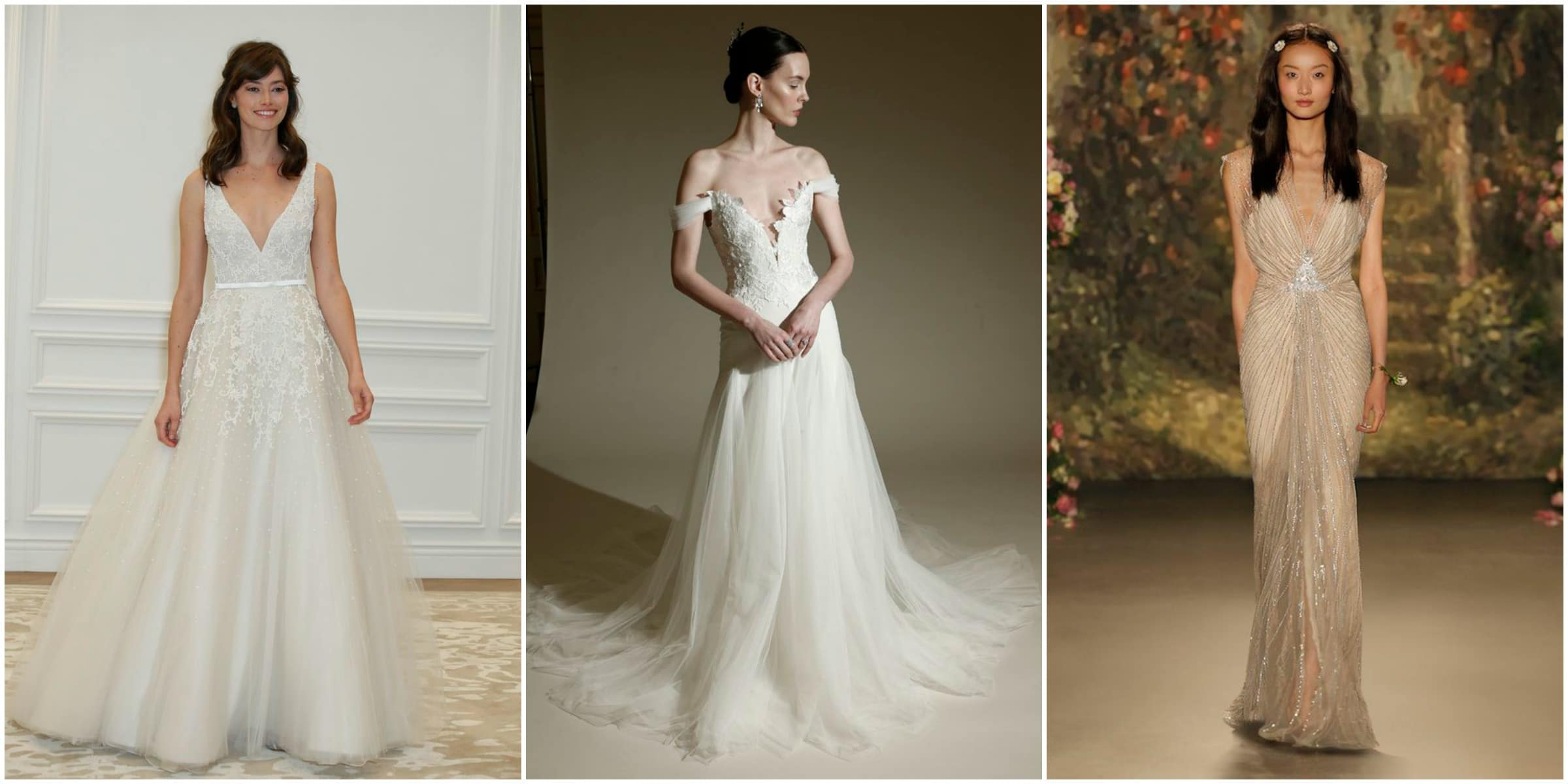 V-neck bridal trends 2016