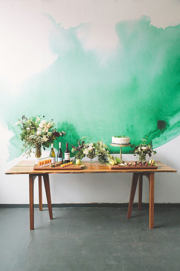 water color reception table