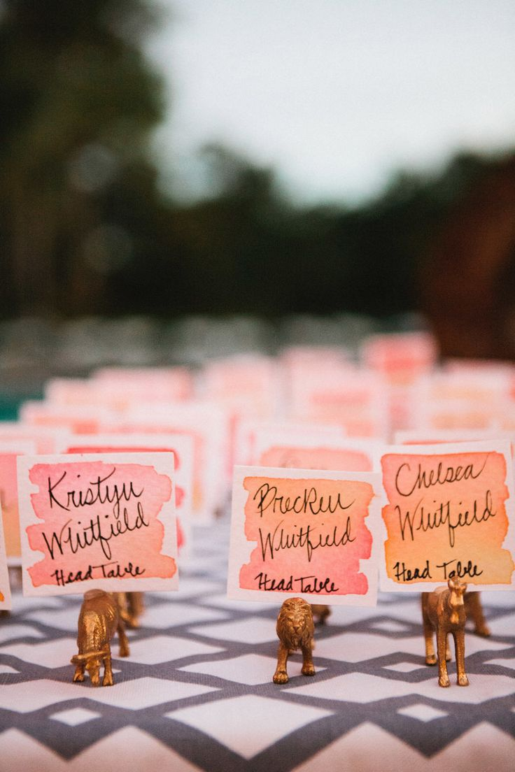 watercolor table cards