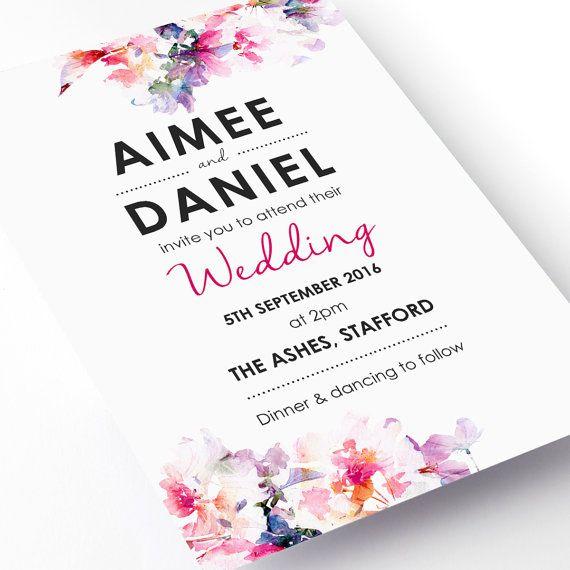 wedding invitation water color