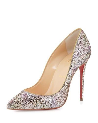 trouwschoenen met glitters
