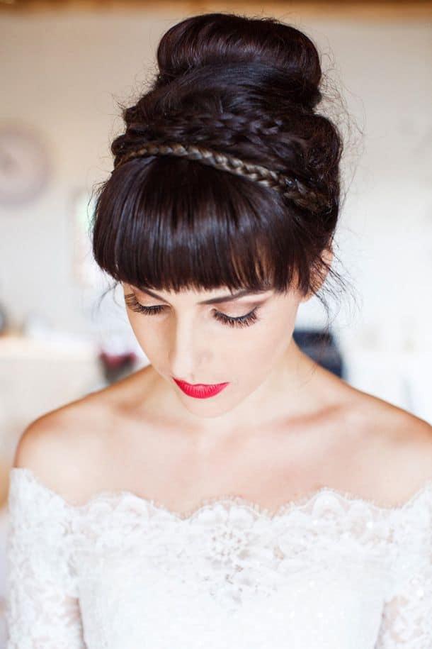 bruidskapsel met vlechten