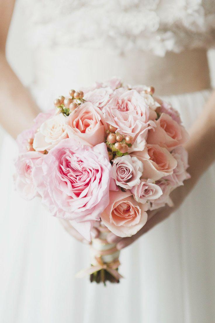 roze bruidsboeket inspiratie