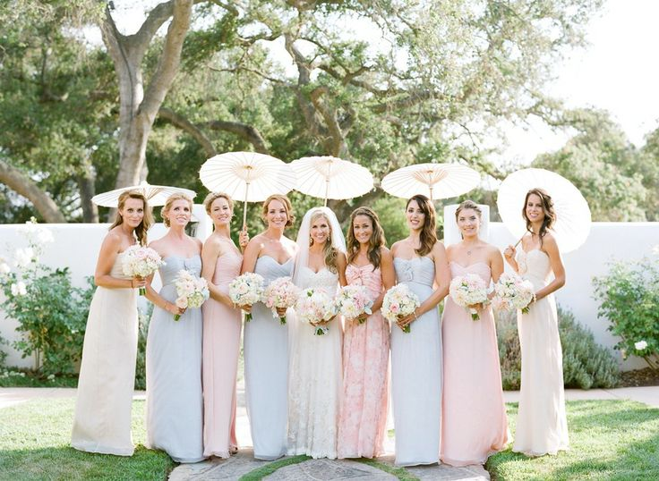 mismatched bridesmaids