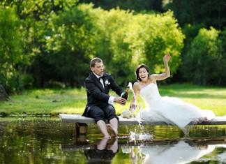 vlek op je trouwjurk