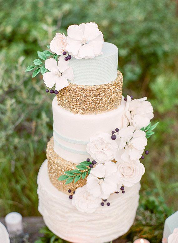 glitterende taart