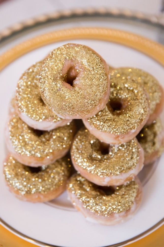 glitterende donuts