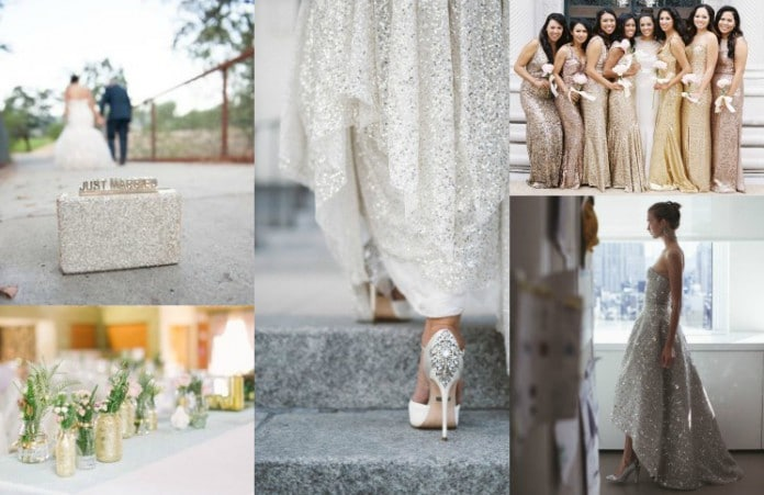 glitterende bruiloft