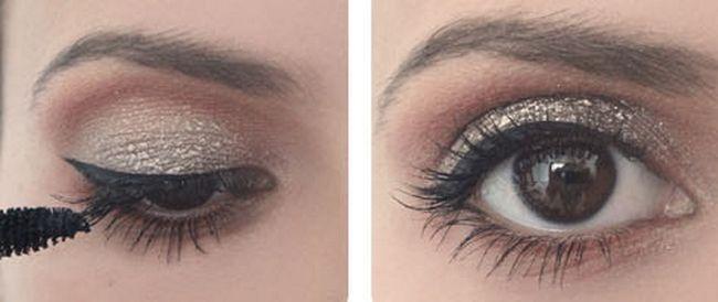 glitterende make-up