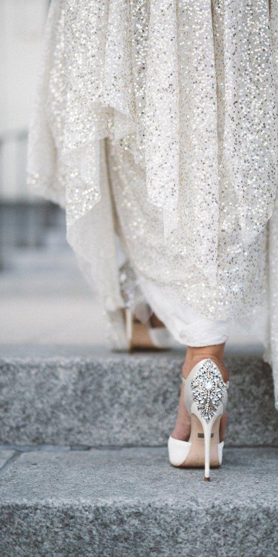 bron glitterende bruiloft