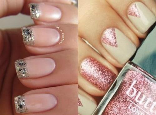 glitterende nagels