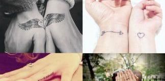 bruid en bruidegom tatoeages