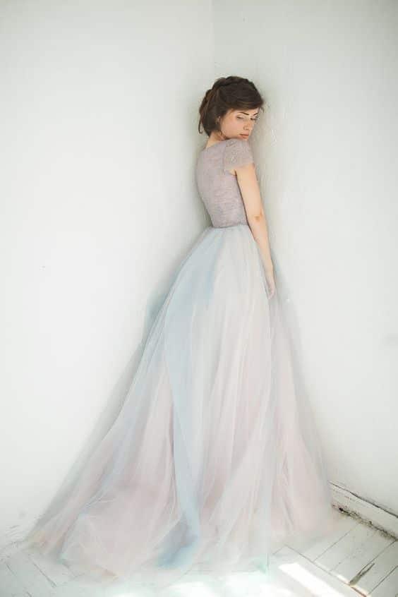 pastel trouwjurk