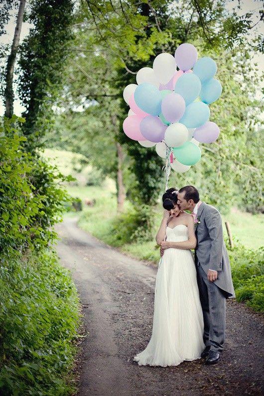 pastel bruiloft