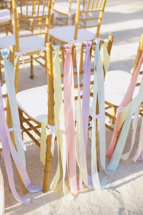 pastel trouwdecoratie