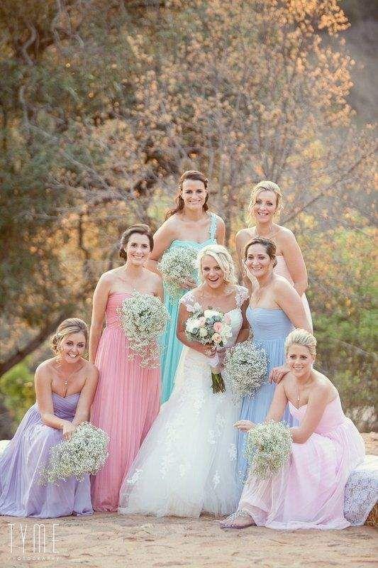 pastelkleurige trouwthema