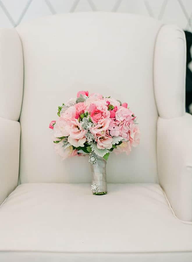 haar grijs roze