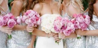 zilver en roze bruiloft thema