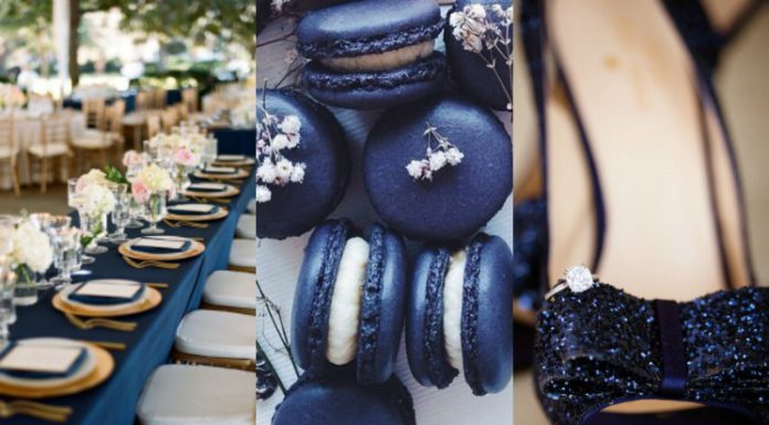 navy blue trouwinspiratie
