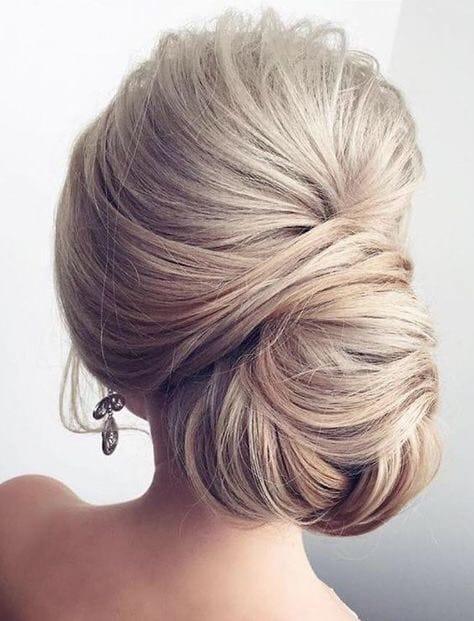 los opgestoken bruidskapsels met knot