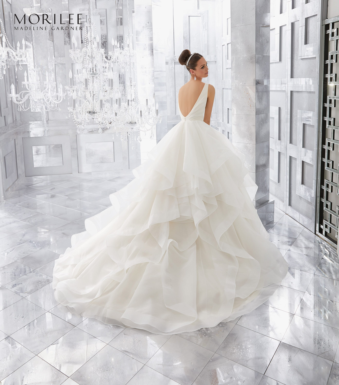 bruidsjurk met lage rug