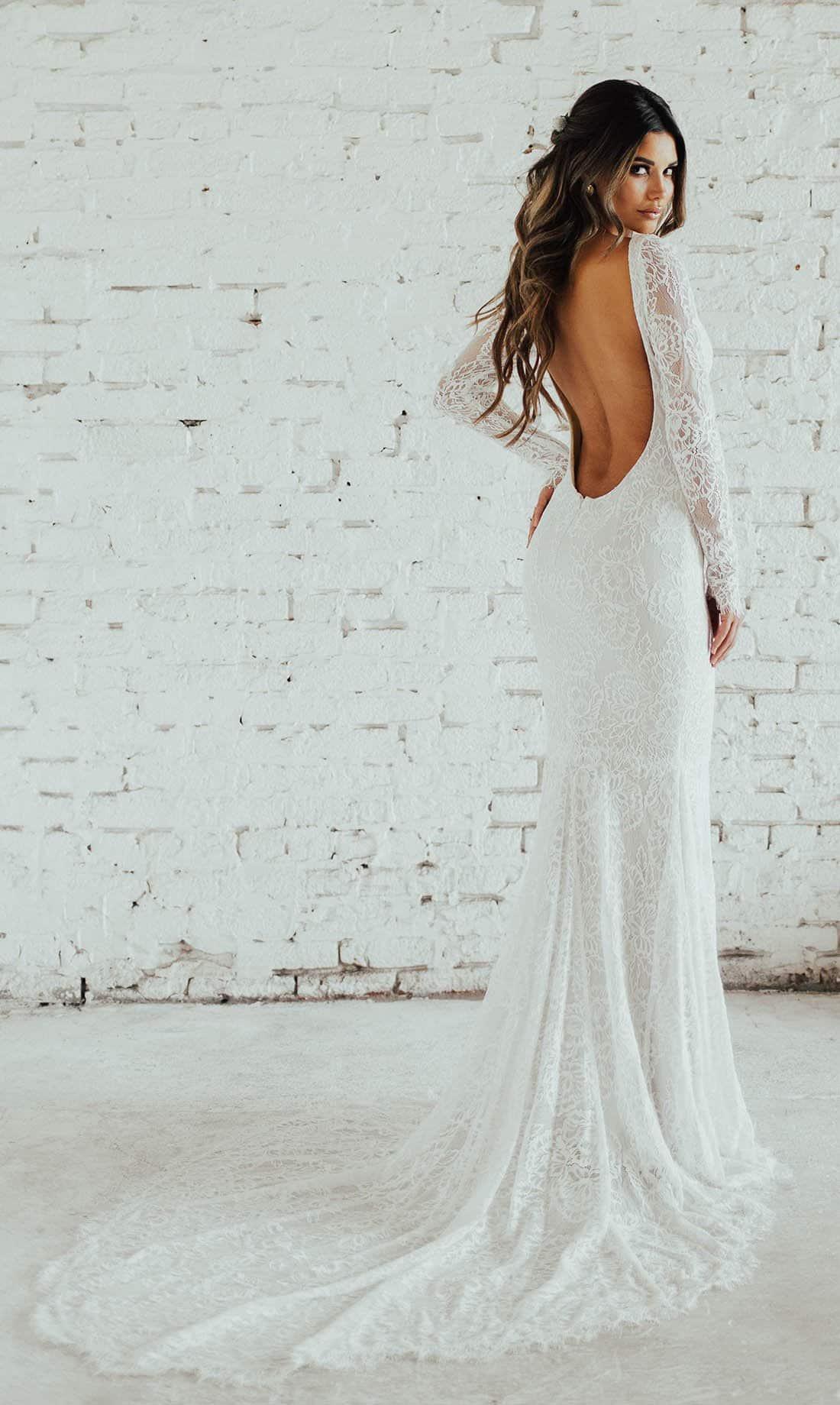 bruidsjurk met open rug