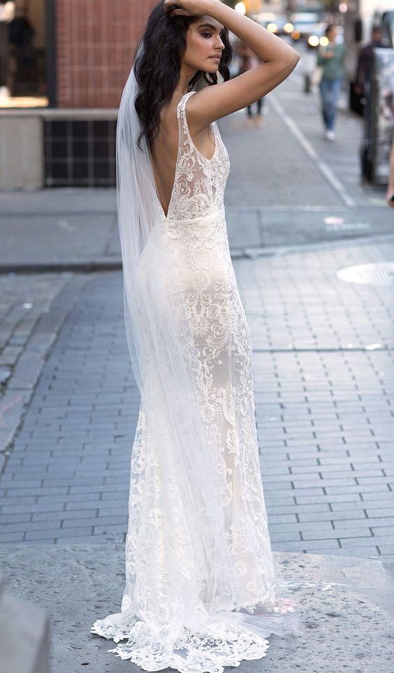 anna campbell trouwjurk