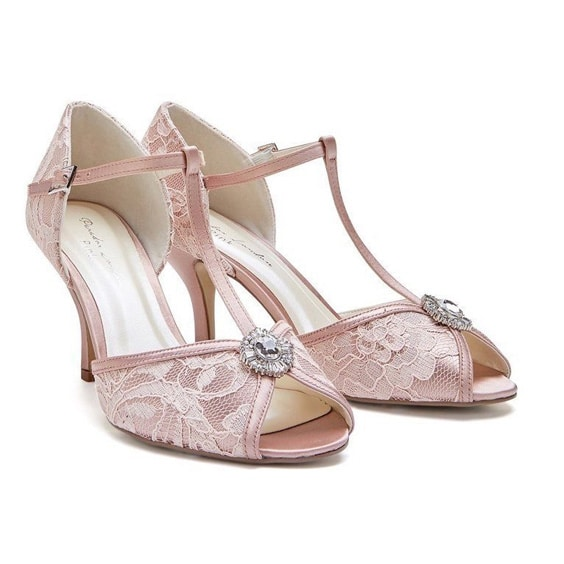 roze bruidsschoenen