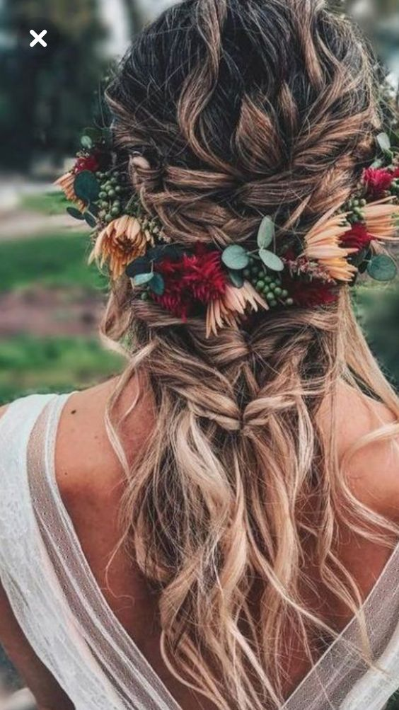 bohemian bruidskapsels met vlecht