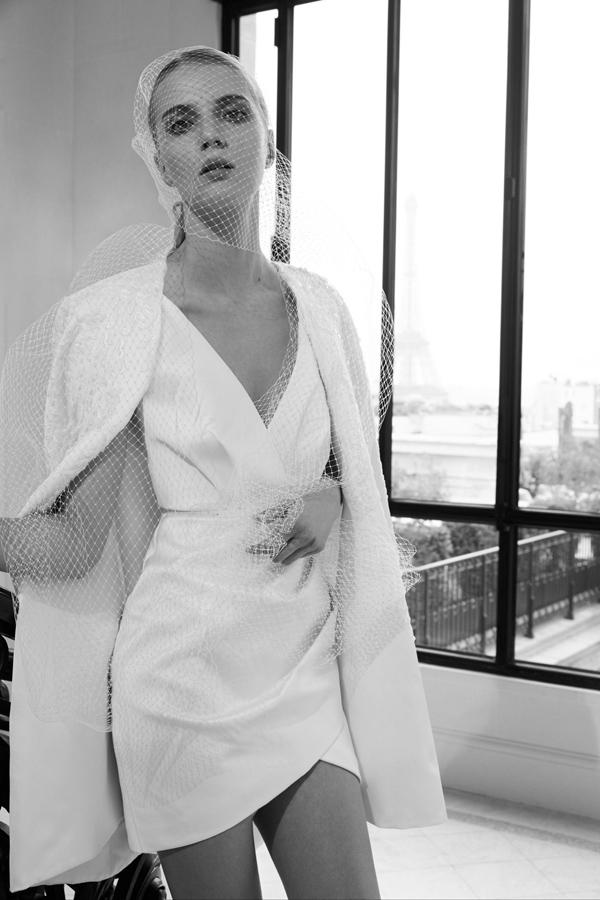 Korte trouwjurk van Elie Saab