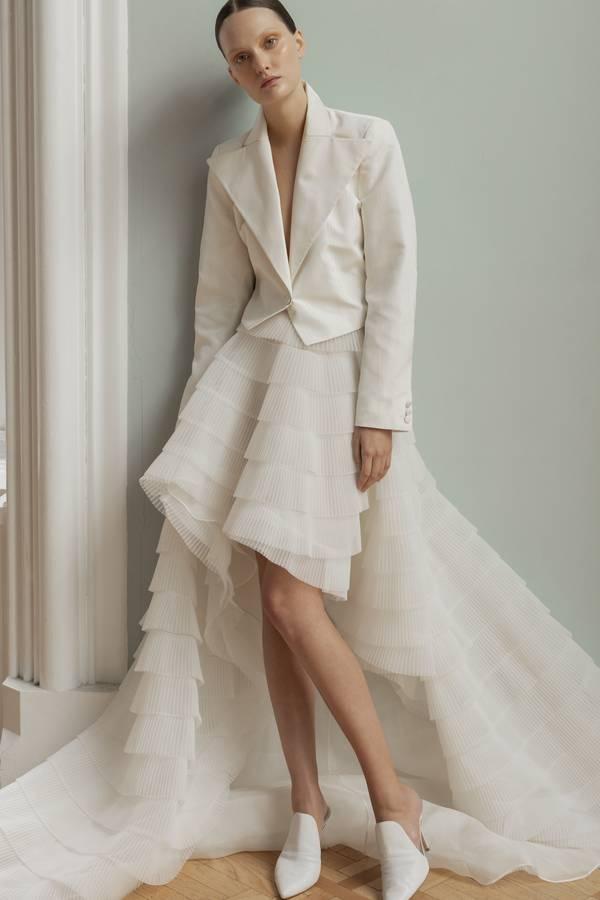 Korte trouwjurk van Francesca Miranda