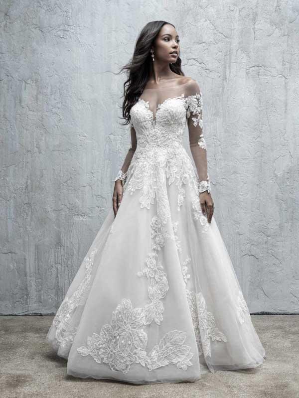 prinsessen trouwjurken met off-the-shoulder halslijn