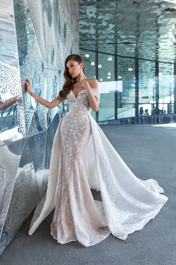 prinsessen trouwjurken met off-the-shoulder halslijn sexy stijl